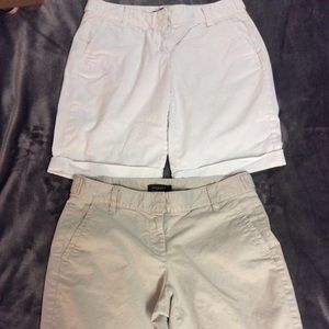 Ann Taylor Bermuda Roll Cuff Shorts Bundle Of Two